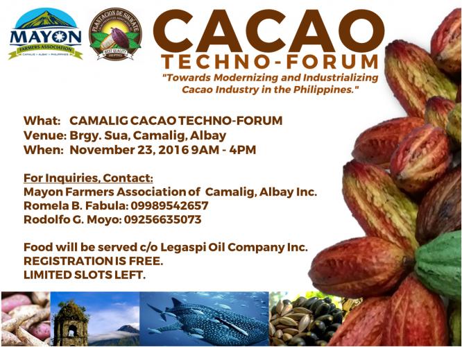 MFA-PDS Cacao Techno-Forum goes to Camalig, Albay