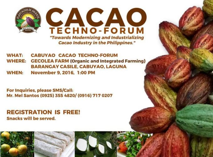 PDS Cacao Techno-Forum goes to Cabuyao, Laguna