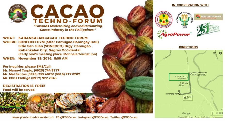 PDS Cacao Techno-Forum goes to Kabankalan, Negros Occidental