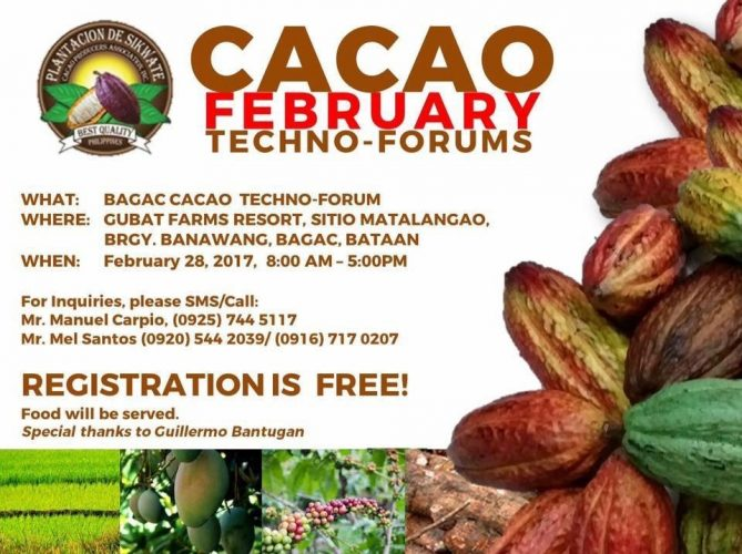 Cacao Techno-Forum goes to Bagac