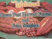 PDS BOHOL CHAPTER: Cacao Post Harvest Forum and Echo Seminar