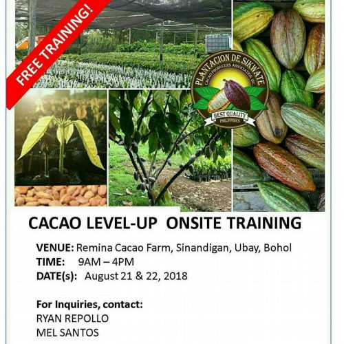 Cacao Level Up Onsite Training, Ubay Bohol