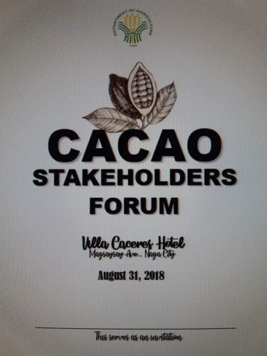 Cacao Stakeholders Forum, Villa Caceres Hotel, Naga City