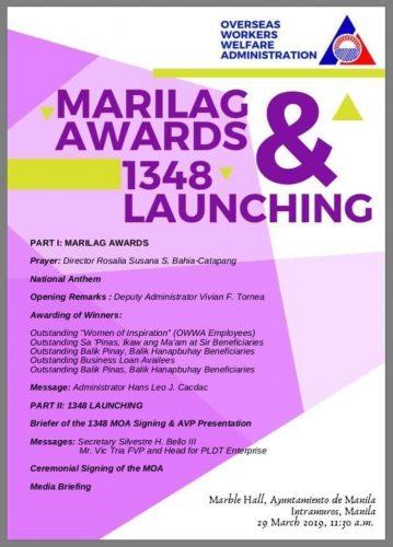 Awarding a PDS Member: OWWA Balik Pilipinas Hanapbuhay Program